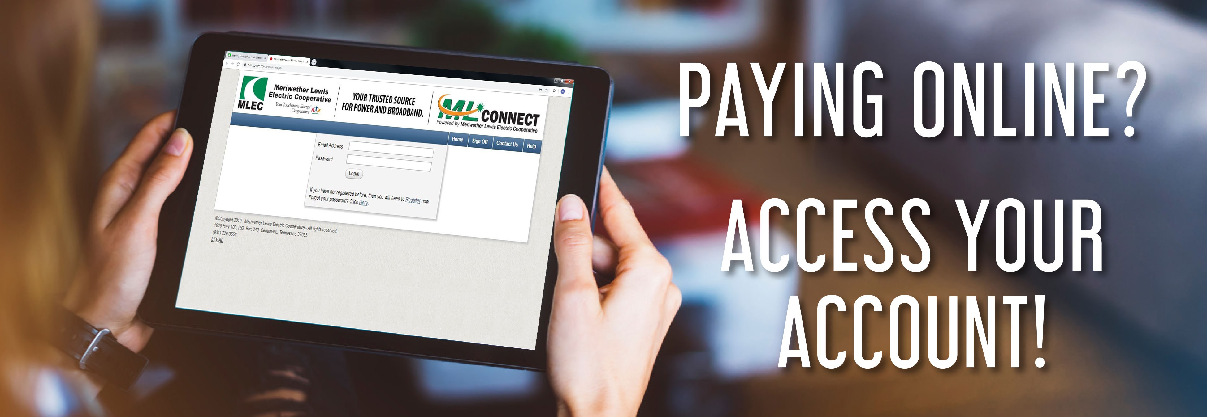 Paying online? Access my account.